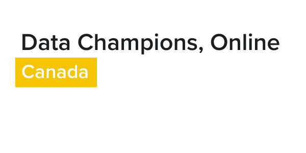 Data Champions, Online - Canada