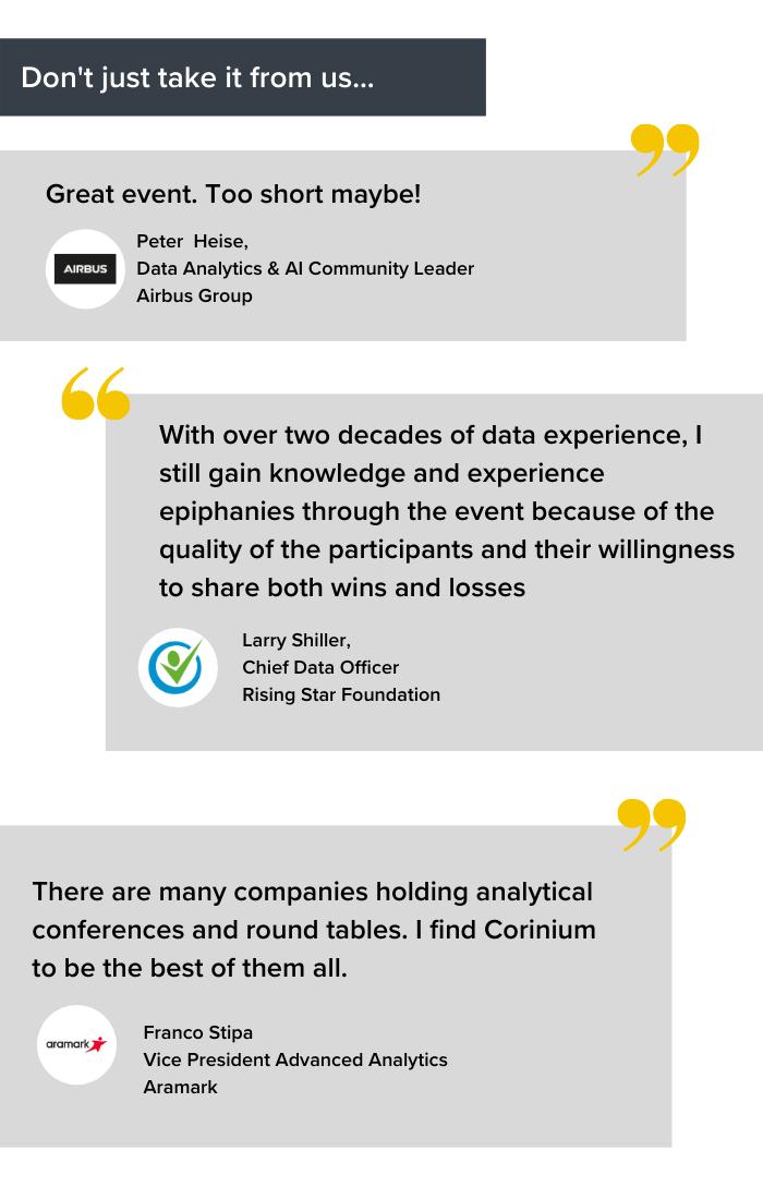 Data Champions, Online - Testimonials